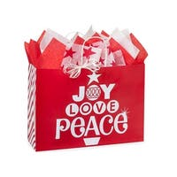 """Pack of 250, Vogue Peppermint Holiday Paper Bags 16 x 6 x 12"""" For Christmas Packaging, 100% Recyclable,"""