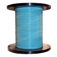 Offex 2 Fiber Indoor Distribution Fiber Optic Cable, Multimode, 50/125, OM3, 10 Gbit, Aqua, Riser Rated, Spool 1000 foot