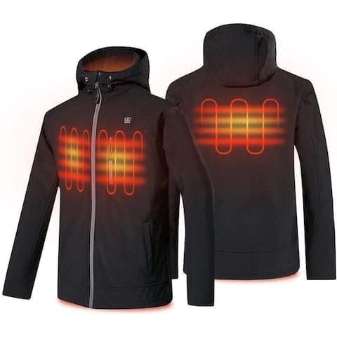 Men's Heated Jacket Waterproof Electric Heated Jackets with Hood