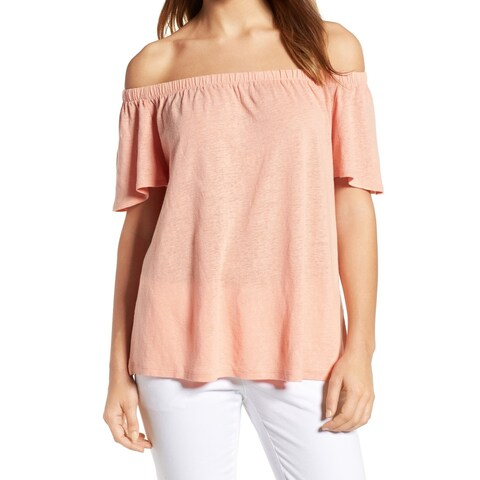 Caslon Off-Shoulder Women's Large Knit Top Blouse