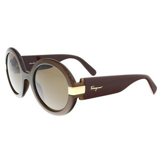 Salvatore Ferragamo SF778/S 210 Brown Round Sunglasses - 52-24-135