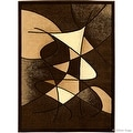 "Allstar Brown Abstract Modern Area Carpet Rug (7' 10"" x 10' 2"") - Thumbnail 1"