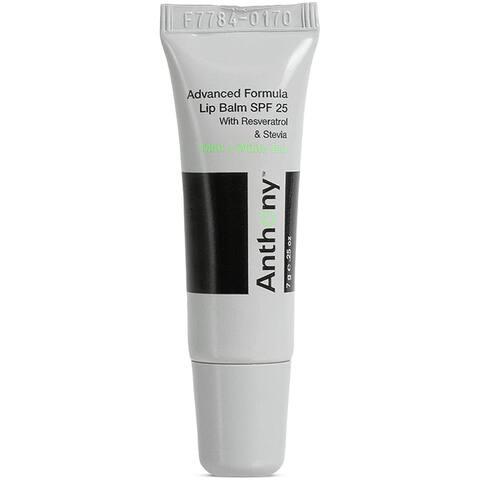 Anthony Mint & White Tea Advanced Formula Lip Balm SPF 25, Contains Green Tea Extract, Shea Butter, Vitamin E, Moisturizes