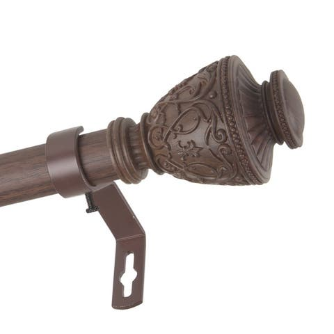 InStyleDesign Neva 1 inch Faux Wood Curtain Rod