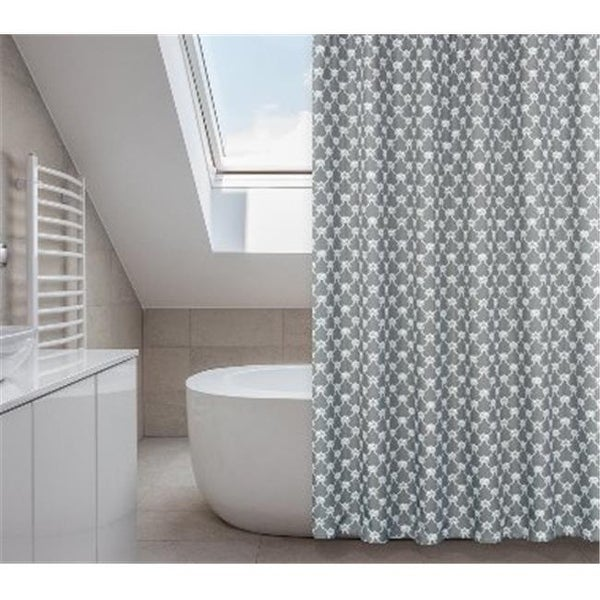 Shop OO Manhattan 14 Piece Shower Curtain Set Charcoal Grey
