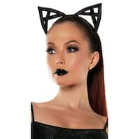 Bondage Kitty Ears, Cat Ears - Black - One Size Fits most