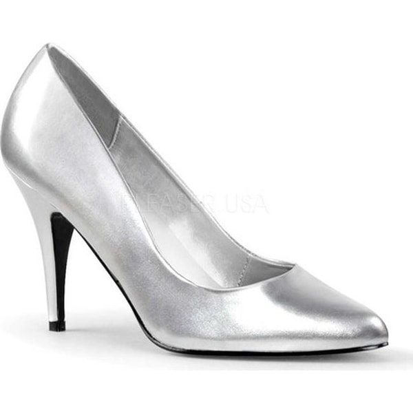 Shop Pleaser Women s Vanity 420 Silver PU - Free Shipping On Orders Over   45 - Overstock - 22973332 d5620aa5a1a6