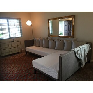 Avenue Greene Mid-century Grey Upholstered Modern Daybed