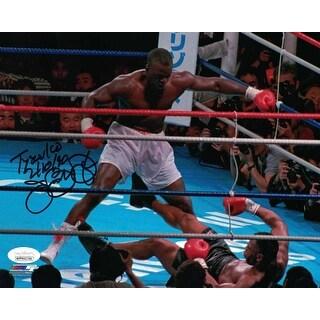 Buster Douglas AutographedSigned Boxing 8x10 Photo Tyson KO JSA