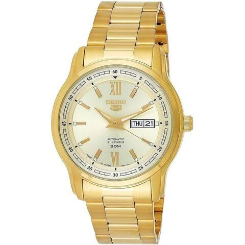 Seiko Men's SNKP20J1 'Seiko 5' Gold-Tone Stainless Steel Watch