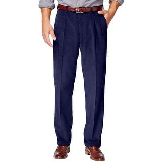 Ralph Lauren Double Pleated Front Corduroy Pants Navy Blue 31 x 32