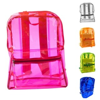 Women Transparent Adult Kids Clear Backpack Student Sports School Travel Bags