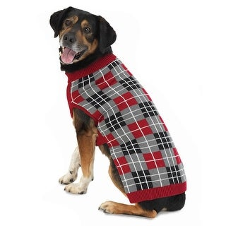 Piper's Plaid Dog Sweater - Red - Small