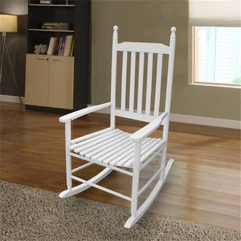 AOOLIVE Outdoor Indoor Wooden Porch Rocker Chair [NO CUSHION]