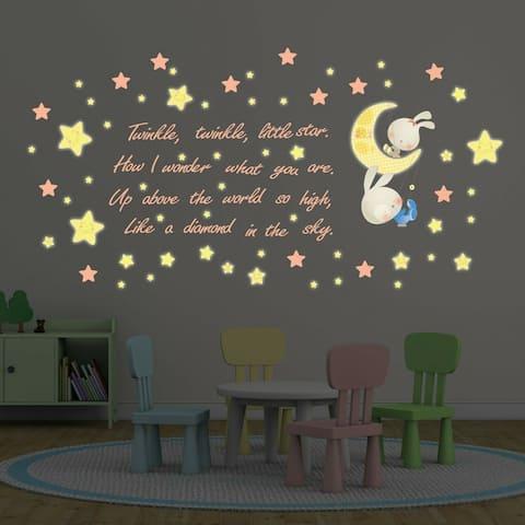 Walplus Peel and Stick Wall Sticker Twinkle Little Star Home Decor