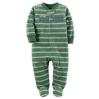 Carter's Baby Boys' Little Brother Zip-Up Fleece Sleep & Play, 3 Months