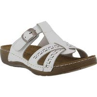 Flexus by Spring Step Women's Nery Slide Sandal White