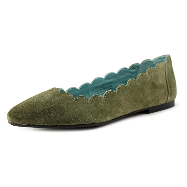 29 Porter Rd Mishka Scalloped Edge Ballet Slipper Women Green Ballet Flats