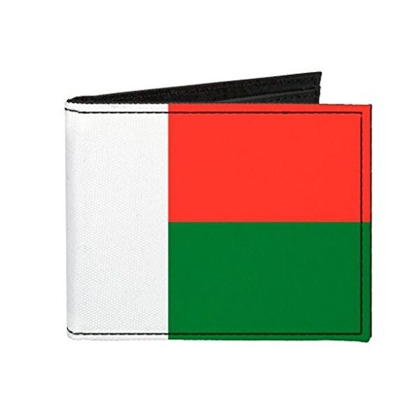 Buckle-Down Canvas Bi-fold Wallet - Madagascar Flag Accessory