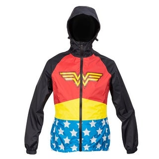 DC Comics Wonder Woman Zip Raincoat Hooded Jacket