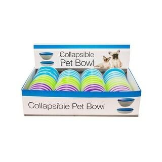 Bulk Buys Collapsible Pet Bowl Countertop Display, 48 Piece