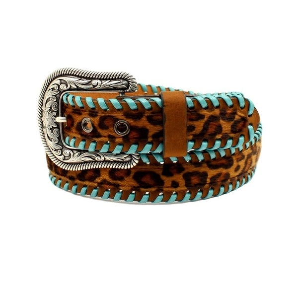 Ariat Western Belt Womens Lacing Leather Leopard Print