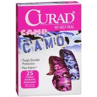 Curad Camp Camo Bandages One Size Pink 25 Each