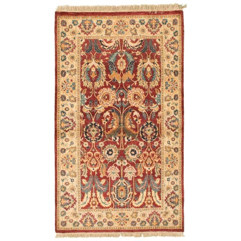 Hand-knotted Pako Persian Red Wool Rug