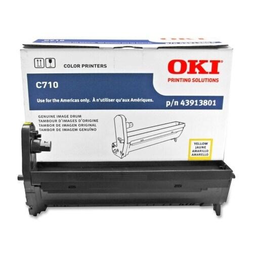 """OKI Drum Unit - Yellow 43913801 Oki Yellow Image Drum For C710 Series Printers - 30000 Page - 1 Pack"""