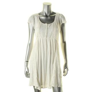 Denim & Supply Ralph Lauren Womens Shirtdress Boho Lace - m