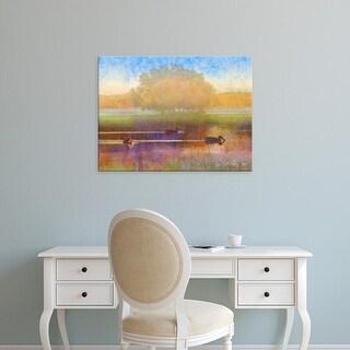Easy Art Prints Chris Vest's 'Ducks in Soft Mist' Premium Canvas Art