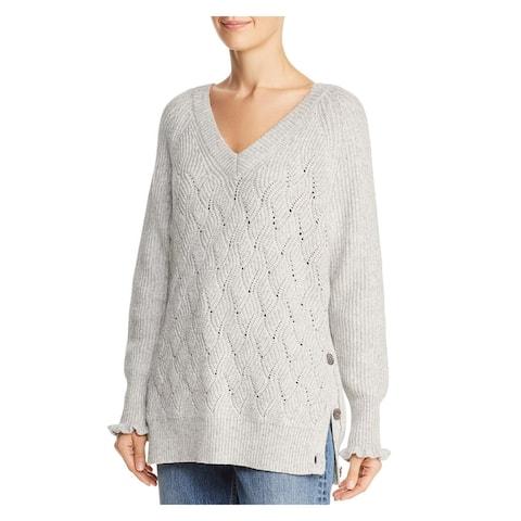 REBECCA TAYLOR Gray Long Sleeve Sweater XS