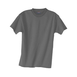 Hanes Kids' Beefy-T T-Shirt - Size - M - Color - Smoke Gray