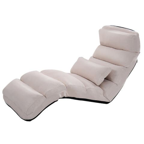 Stylish Folding Lazy Sofa Chair with Pillow