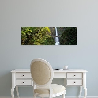 Easy Art Prints Panoramic Images's 'Multnomah Falls, Columbia River Gorge, Portland, Multnomah, Oregon' Canvas Art