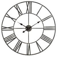 """Aspire Home Accents 5155  Solange 30"""" Diameter Oversized Analog Wall Mounted Clock"""