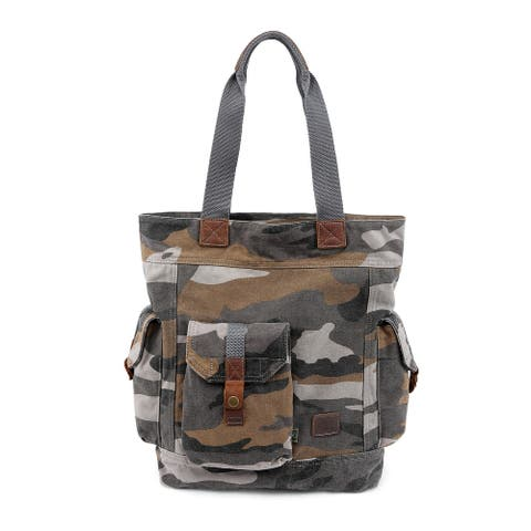 TSD Brand Renegade Camo Canvas Tote Bag
