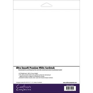 "Spectrum Noir Ultra Smooth Premium Cardstock 8.5""X11"" 50/Pkg-White"