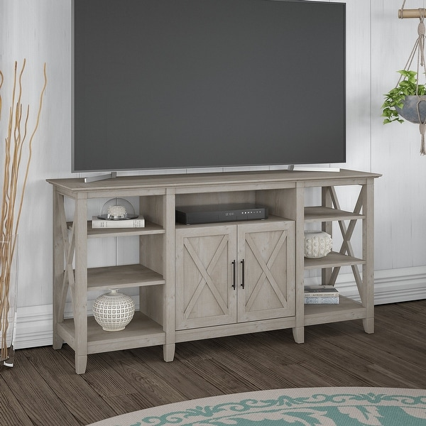 The Gray Barn Tall TV Stand. Opens flyout.