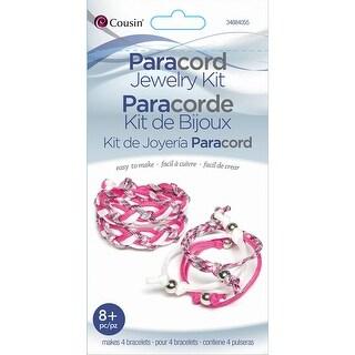 Paracord Kit-Pink Braid Bracelet - Pink
