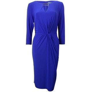 Vince Camuto Women's Twist Knot Keyhole Bodycon Dress