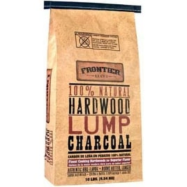 Frontier LCR10 Hardwood Lump Charcoal, 10 Lbs