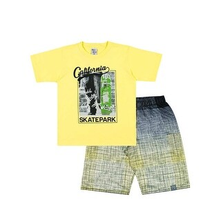 Boys Outfit Graphic T-Shirt and Shorts Kids Set Pulla Bulla Sizes 2-10 Years