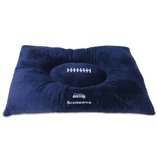 """Pets First NFL Seattle Seahawks """"Soft & Cozy"""" Plush Pet Pillow Bed"""