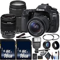 Canon 80D Camera & Canon EF-S 75-300mm Lens KitIntl Model