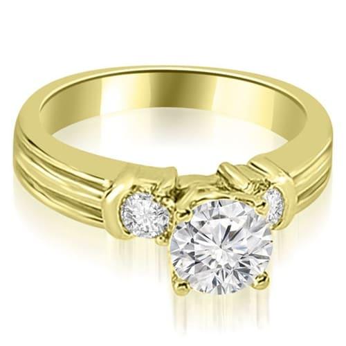 1.50 cttw. 14K Yellow Gold Prong Set Round Cut Diamond Engagement Ring