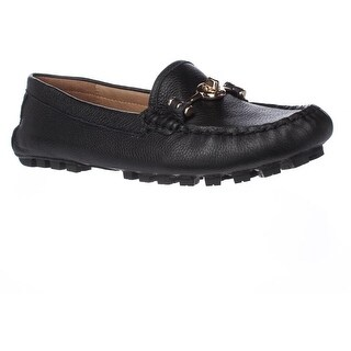 Coach Arlene Turnlock Casual Loafer Moccasins, Black