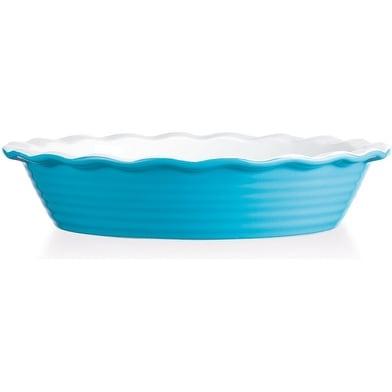 Palais Dinnerware Tarte Collection Ceramic Pie Dish 10 Diameter Aqua