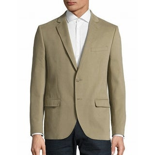Black Brown 1826 NEW Beige Mens Large L Two Button Twill Sport Coat