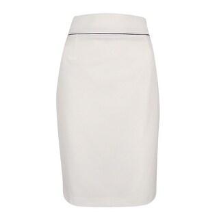 Calvin Klein Women's Solid Pencil Skirt - 4